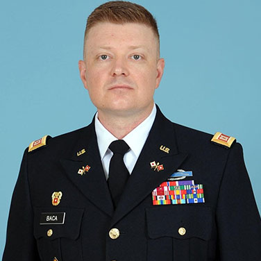MAJ Larry Baca, U.S. Army FA-57